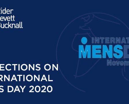 Reflections on International Men's Day 2020